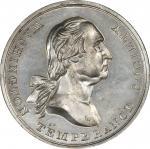Circa 1847 House of Temperance medal. Musante GW-174, Baker-329B. White Metal. MS-63 (PCGS).
