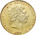 1818年英国壹圆银币。乔治二世。 GREAT BRITAIN. Crown, 1818 Year LIX. George III. PCGS Genuine--Repaired, AU Detail