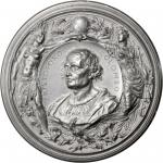 1892 Worlds Columbian Exposition Cristoforo Colombo Medal. White Metal. 102 mm. Eglit-106. Mint Stat