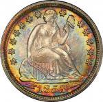 1853 Liberty Seated Dime. Arrows. MS-66 (PCGS).