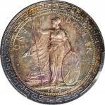 1912-B年英国贸易银元站洋壹圆银币。孟买铸币厂。 GREAT BRITAIN. Trade Dollar, 1912-B. Bombay Mint. PCGS AU-58.