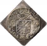 1672年荷兰6 1/4 Stuivers。 NETHERLANDS. Groningen & Ommeland. 6 1/4 Stuivers Uniface Siege Klippe, 1672.