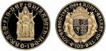 Elizabeth II (1952-), Proof Five-Pounds, 1989, 500th Anniversary of the Sovereign, by Bernard Sindal