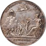 1839 New York Mechanics Institute Award Medal. By Furst. Harkness Ny-370. Silver. Extremely Fine.