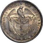 COLOMBIA. 1863 Peso. Bogotá mint. Restrepo 315.2. MS-64 (PCGS).