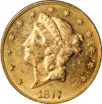 1877 Liberty Head Double Eagle. MS-61 (PCGS).