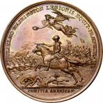 1781 William Washington at Cowpens medal. Betts-594. Copper. Original. Paris Mint. 46.4 mm, 697.6 gr