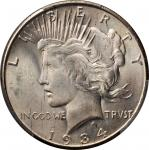 1934-S Peace Silver Dollar. MS-65 (PCGS).