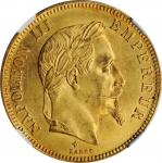 FRANCE. 100 Francs, 1869-BB. Strasbourg Mint. Napoleon III. NGC MS-61.
