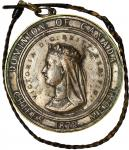 1872 Dominion of Canada Indian Chiefs medal. Silver-plated electrotype, as made. Jamieson Fig. 37. V