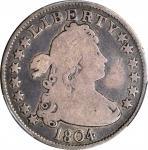 1804 Draped Bust Quarter. B-1. Rarity-3. Good-6 (PCGS).
