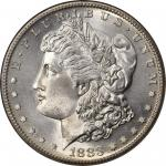 1883-S Morgan Silver Dollar. MS-66 (NGC).