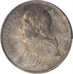 ITALY. Papal States. 5 Lire, 1870-R Year XXIV. Rome Mint. Pius IX. PCGS MS-64+ Gold Shield.