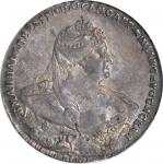 RUSSIA. Ruble, 1738. Anna (1730-40). PCGS AU-58 Secure Holder.