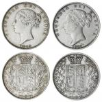 Victoria (1837-1901), Halfcrowns, 1845, type A4 (S.3888); another, 1887, type A7 (S.3889), both hars