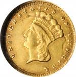 1857-C Gold Dollar. AU-50 (NGC).