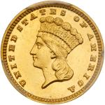 1884 $1 Gold Indian. PCGS PF63