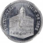 1893 Masonic Temple Cornerstone Medal by J.A. Bolen. Aluminum. Musante JAB-41. MS-66 (NGC).