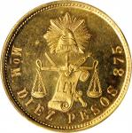 MEXICO. 10 Pesos, 1904-Mo M. Mexico City Mint. PCGS MS-64 Prooflike Gold Shield.