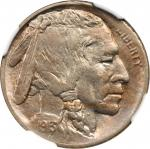 1913-D  Buffalo Nickel. Type II--Struck on a Defective Planchet--MS-63 (NGC).