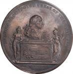 Circa 1817 Washington Roman Bust medal. Silver shell. Uniface. Musante GW-95, Baker-173, Neuzil-41.