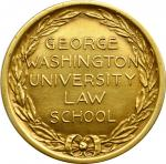 1924 George Washington University Law School John B. Larner Medal. By Tiffany & Co. Gold. About Unci
