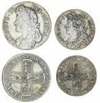 James II (1685-88) (2), Crown, 1688 qvarto, rev. seven strings to harp (ESC 746 {80}; S.3407); also,