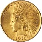 1916-S Indian Eagle. MS-64 (PCGS).