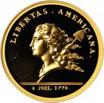 1781 (2014) Libertas Americana Medal. Modern Paris Mint Dies. Gold. 49 mm. 5 ounces. .999 fine. Proo
