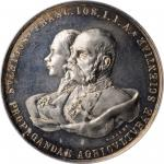 AUSTRIA. Charity Lottery for Military Orphans Silver Medal, 1898. PCGS SPECIMEN-64 Gold Shield.