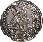 AUSTRIA. 1/4 Taler, 1632. Hall Mint. Archduke Leopold. NGC MS-65.