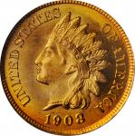 1908 Indian Cent. MS-66 RD (PCGS). CAC. Eagle Eye Photo Seal.