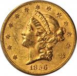 1856 Liberty Head Double Eagle. AU-58 (PCGS).