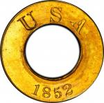 1852 Pattern  Annular, or Ring-Form Gold Dollar. Judd-141, Pollock-169. Rarity-7+. Gold. Plain Edge.