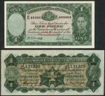 Commonwealth of Australia, 」1, ND (1927), serial number J/21 131225, green and orange, George V at r