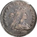 1798 Draped Bust Silver Dollar. Heraldic Eagle. BB-96, B-6. Rarity-3. Knob 9, 10 Arrows. VF-30 (PCGS