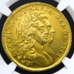 GREAT BRITAIN William&Mary ウィリアム&メアリー(1688~94) 2Guineas 1694/3 NGC-AU55 EF