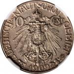 CHINA. Kiau Chau. 10 Cents, 1909. NGC AU-55.