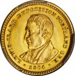 1904 Lewis and Clark Exposition Gold Dollar. MS-64 (PCGS).