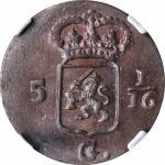 1808年荷兰巴达维亚共和国1Duit。NETHERLANDS EAST INDIES. Batavian Republic. Duit, 1808. NGC MS-64 Brown.