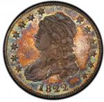 1822 Capped Bust Quarter. Browning-1. Rarity-8 as a Proof. Proof-67 (PCGS).PCGS Population: 1,
