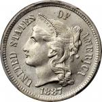 1887 Nickel Three-Cent Piece. MS-66 (PCGS). CAC.
