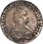 RUSSIA. 1/2 Ruble, 1795-CNB AK. Catherine II (the Great) (1762-96). NGC MS-61.