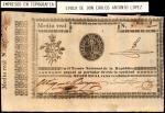 PARAGUAY. En el Tesoro Nacional de la Republica. 1/2 Real, ND (1856). P-1. Very Fine.