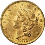 1872 Liberty Head Double Eagle. MS-61 (PCGS). CAC.