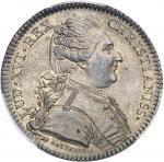 USA Louis XVI (1774-1792). Jeton Liberté des mers et Traité de Versailles par Gatteaux 1783, Paris.