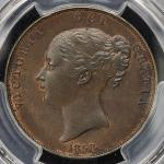 GREAT BRITAIN Victoria ヴィクトリア(1837~1901) Penny 1858 PCGS-MS63BN UNC