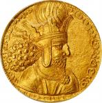 萨珊帝国沙赫普尔一世金币 ANACS MS 64