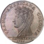 USA Castorland (1792-1800). Jeton d'un 1/2 dollar, refrappe avec de nouveaux coins 1796 (1845-1860),