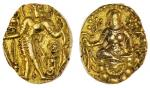 x Gupta Empire, Chandragupta II (c. 380-414), gold Dinar, 8.22g, archer type, nimbate king with long